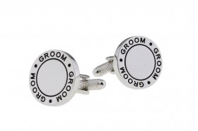 Cufflinks - Black Fill Wedding Cufflinks - Groom - Cufflink ...