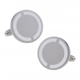 Cufflinks - Club & County - White & White